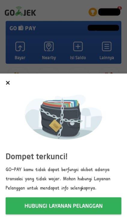 Cara Mengatasi Dompet Gopay diblokir