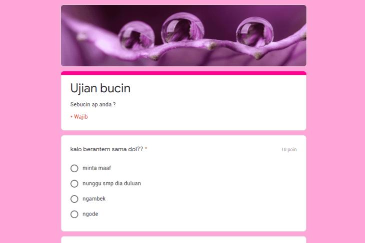 Link Ujian Bucin