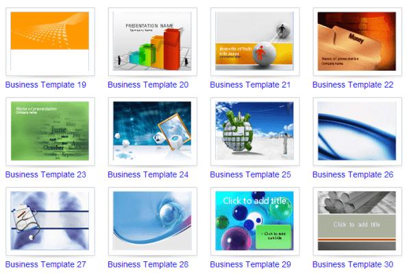 Template PPT Bisnis