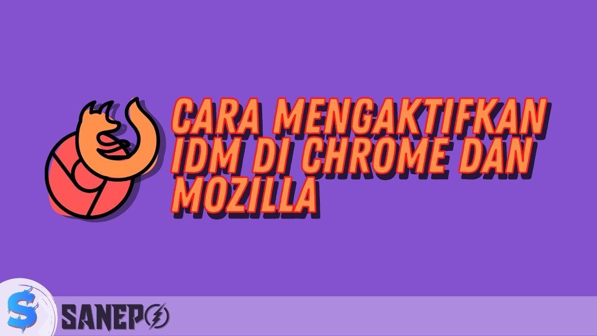 Cara Mengaktifkan IDM di Chrome dan Mozilla