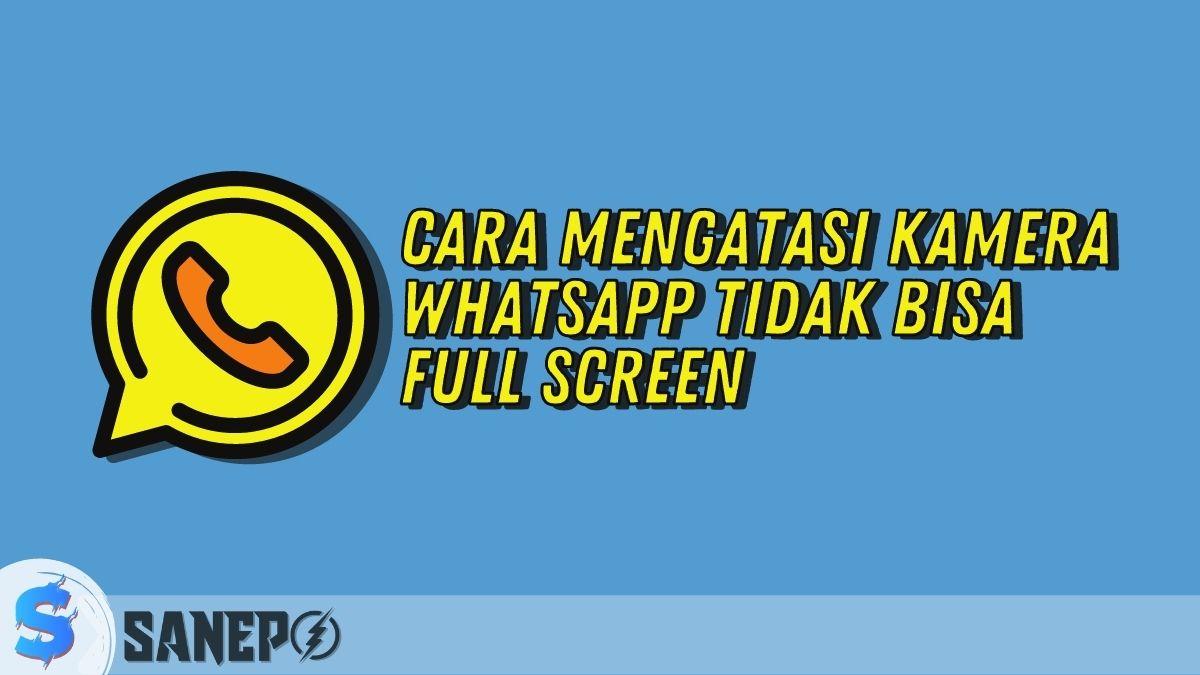 Cara Mengatasi Kamera WhatsApp Tidak Bisa Full Screen
