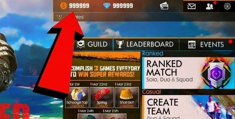 Download Free Fire MOD Diamond 999999 2021 Terbaru