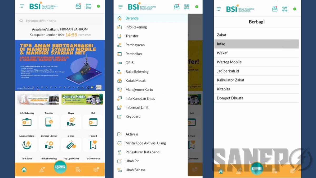 Fitur dari Aplikasi Bank Syariah Indonesia