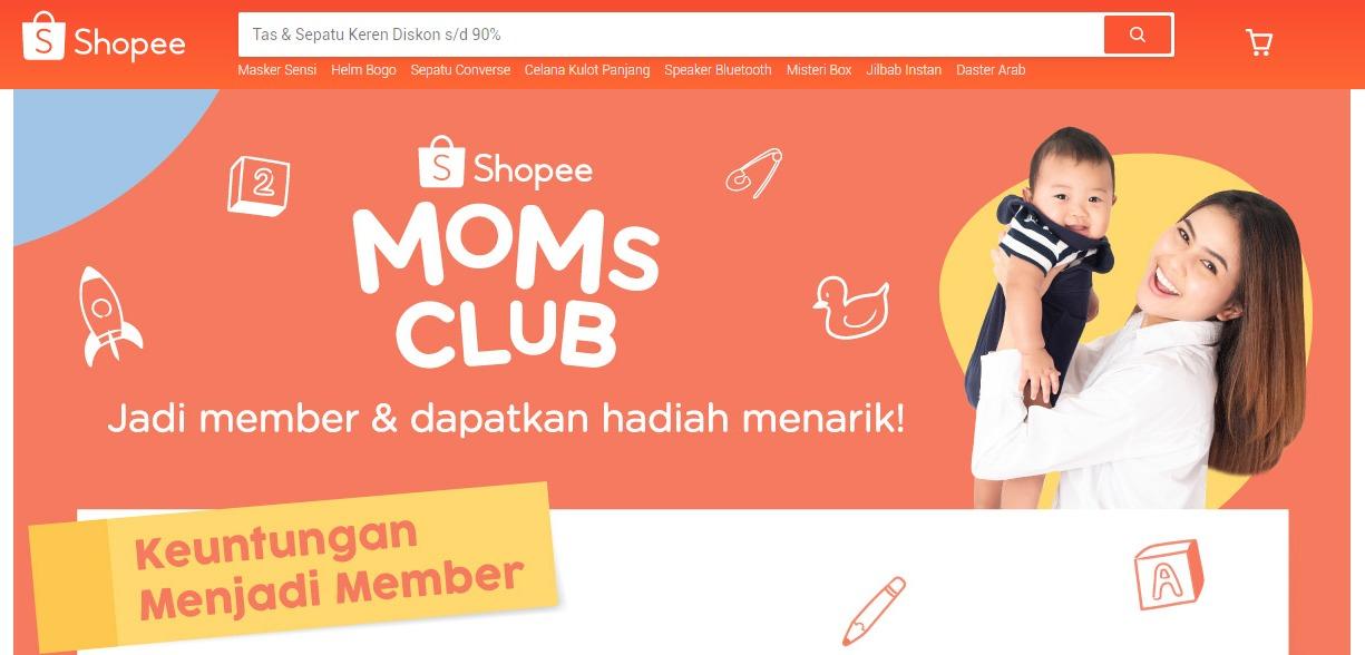 Cara Daftar Shopee Moms Club