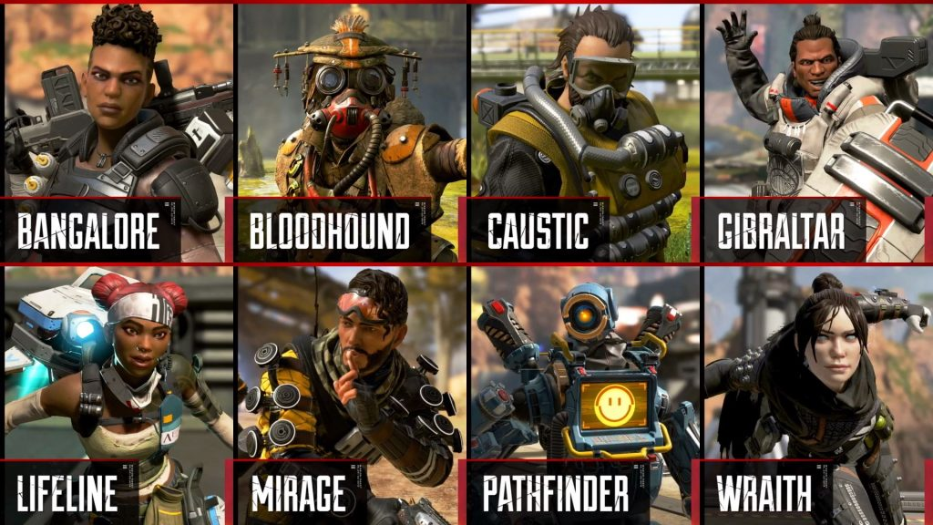 Delapan Karakter Legends dalam Apex Legends