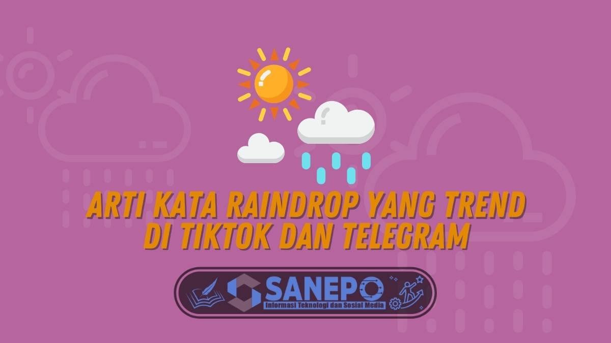 Arti Kata Raindrop yang Trend di TikTok dan Telegram