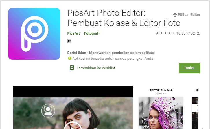 Aplikasi Edit Foto Aesthetic Android