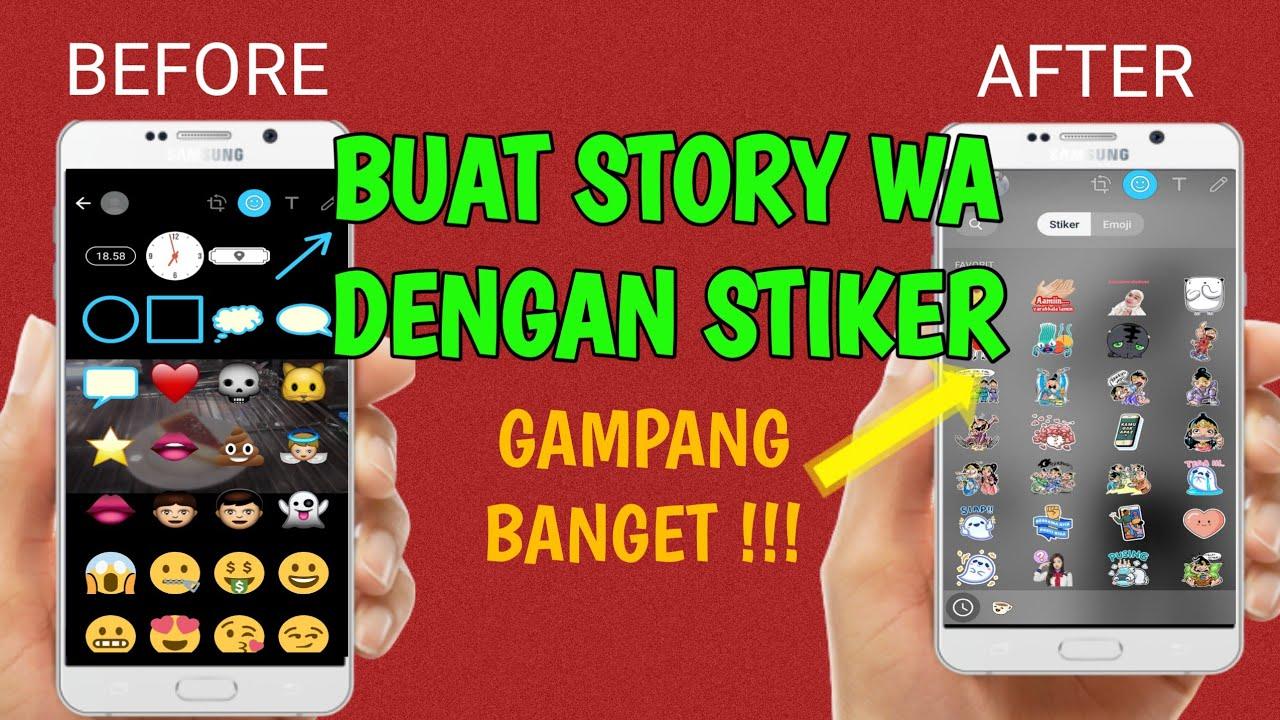 Cara Menambahkan Stiker di Story WA Android