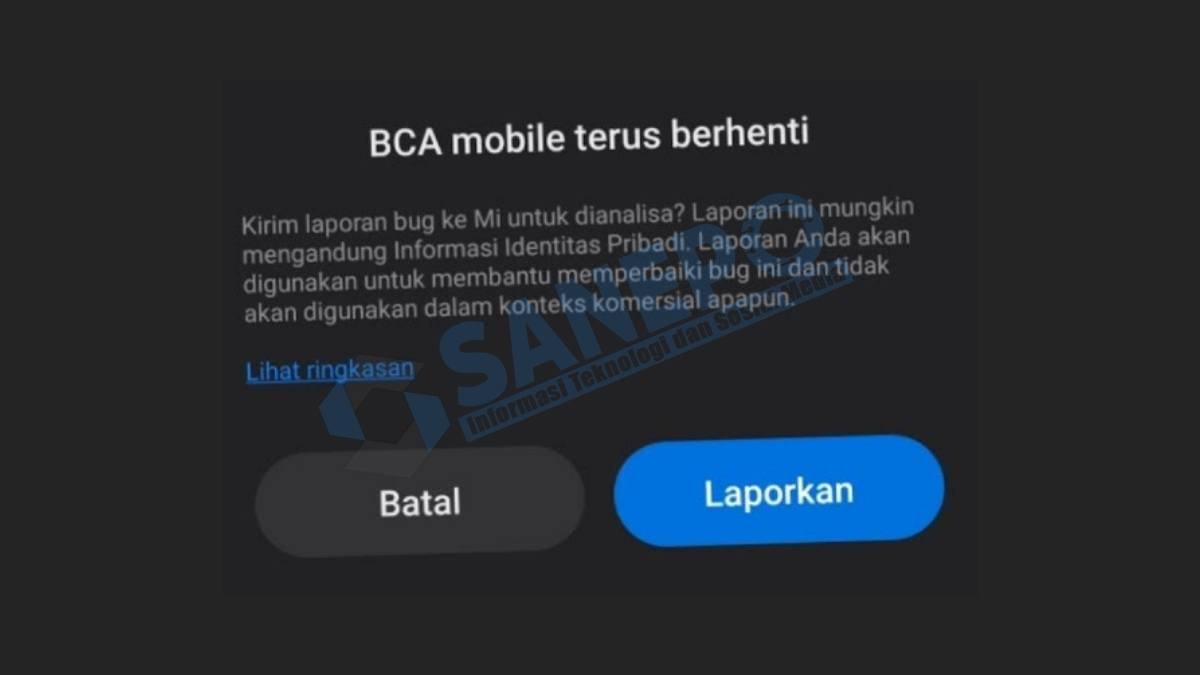 BCA Mobile Telah Berhenti