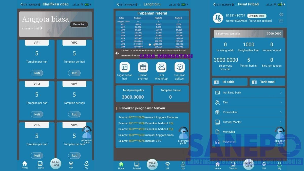 Cara Daftar dan Download Aplikasi Langit Biru Apk