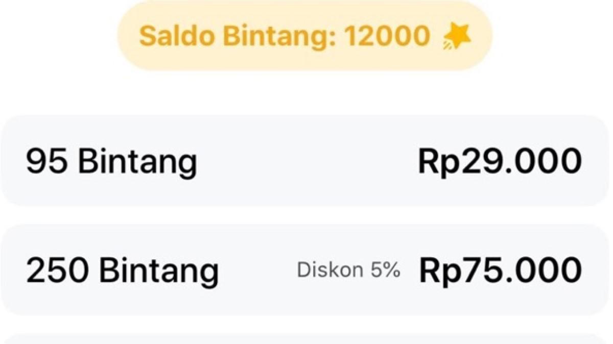 1000 Star Facebook Berapa Rupiah?