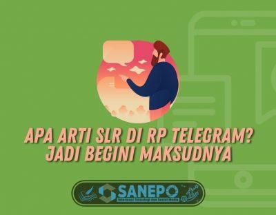 Apa Arti SLR di RP Telegram? Jadi Begini Maksudnya