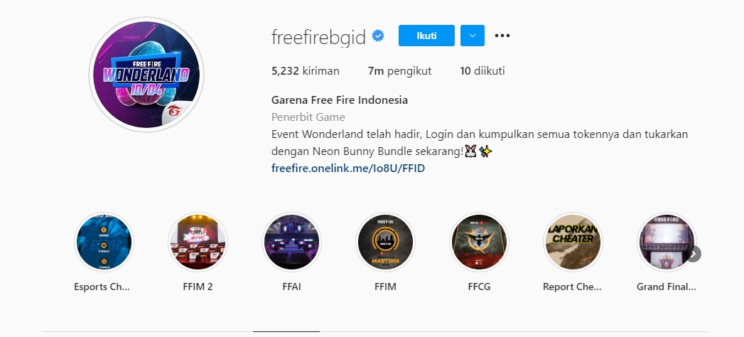 Kode Redeem FF 7 Juta Follower