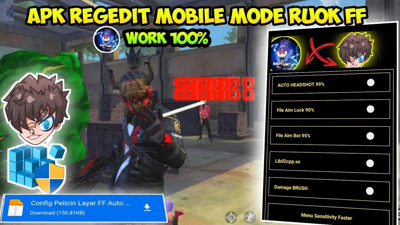 Cara Download Regedit Ruok FF Apk Extreme