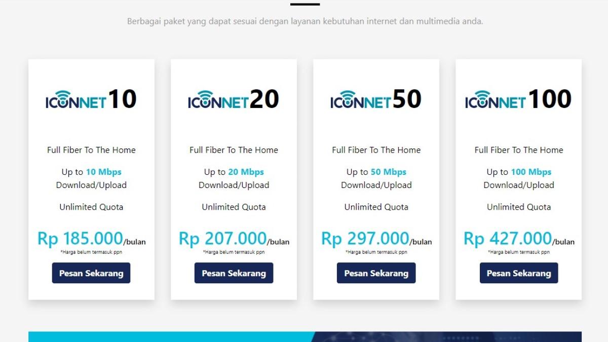 Daftar Paket Internet PLN Iconnect