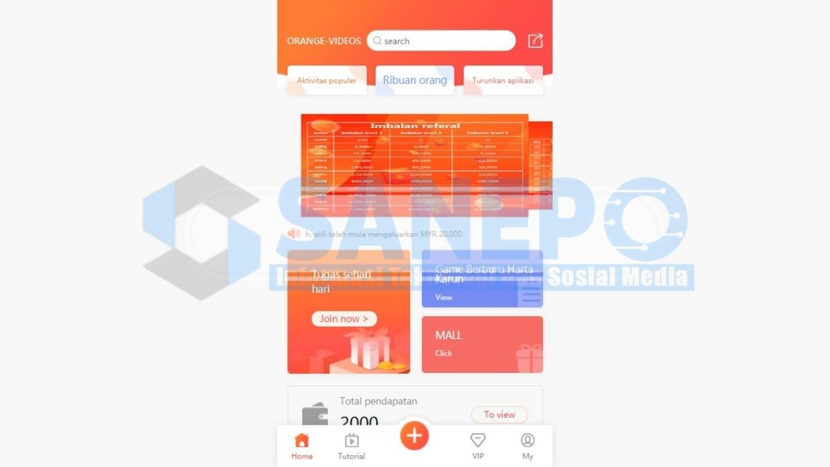 Cara Daftar dan Download Orange Videos Penghasil Uang