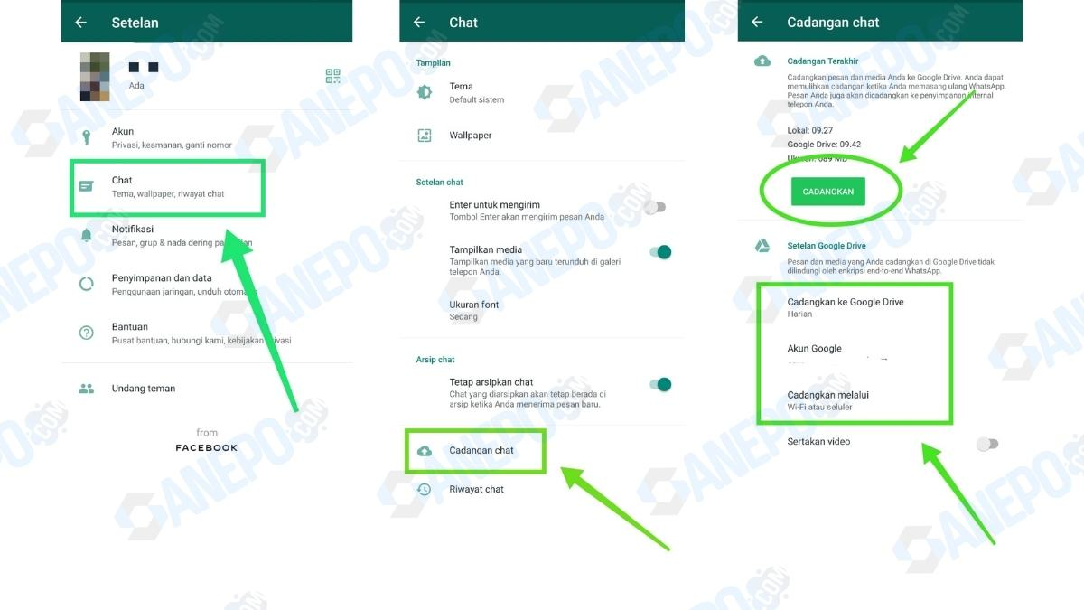 Cara Backup Whatsapp ke Google Drive