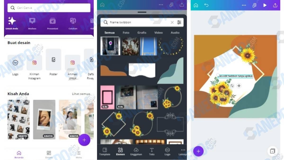 Cara Edit Twibbon Tanpa Aplikasi Via Canva dengan Android