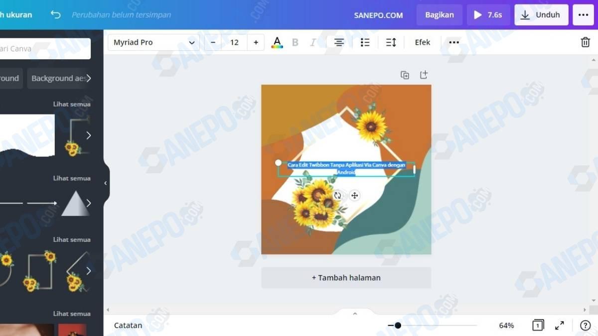 Cara Edit Twibbon Tanpa Aplikasi Via Canva dengan Laptop
