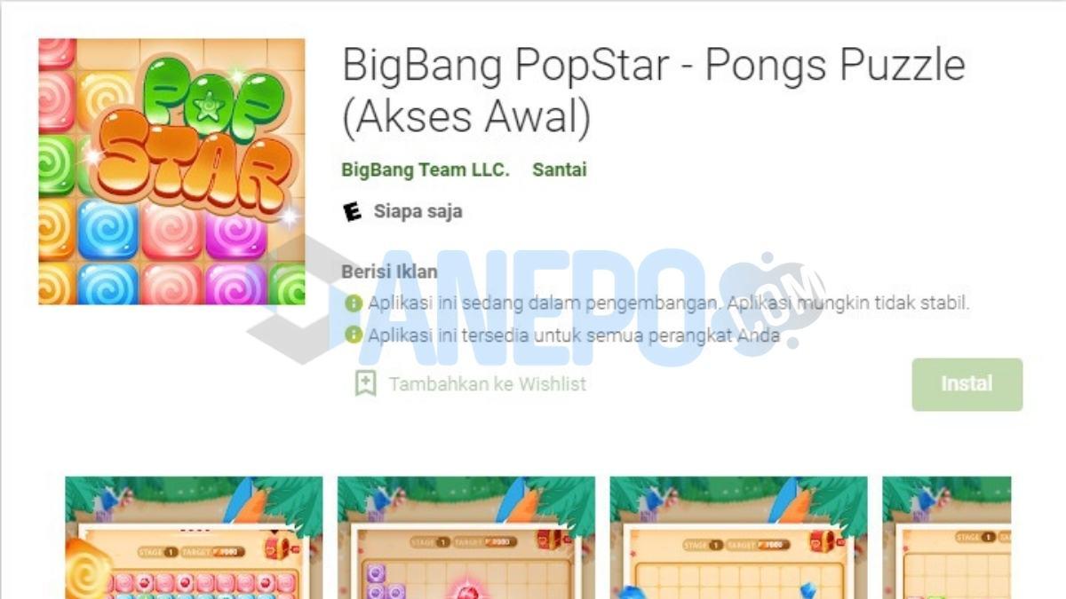 Game Bigbang Pongs Apk Penghasil Uang