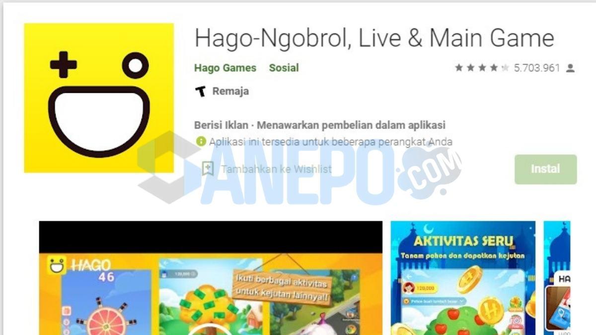 Game Online Penghasil Uang Tanpa Deposit Hago