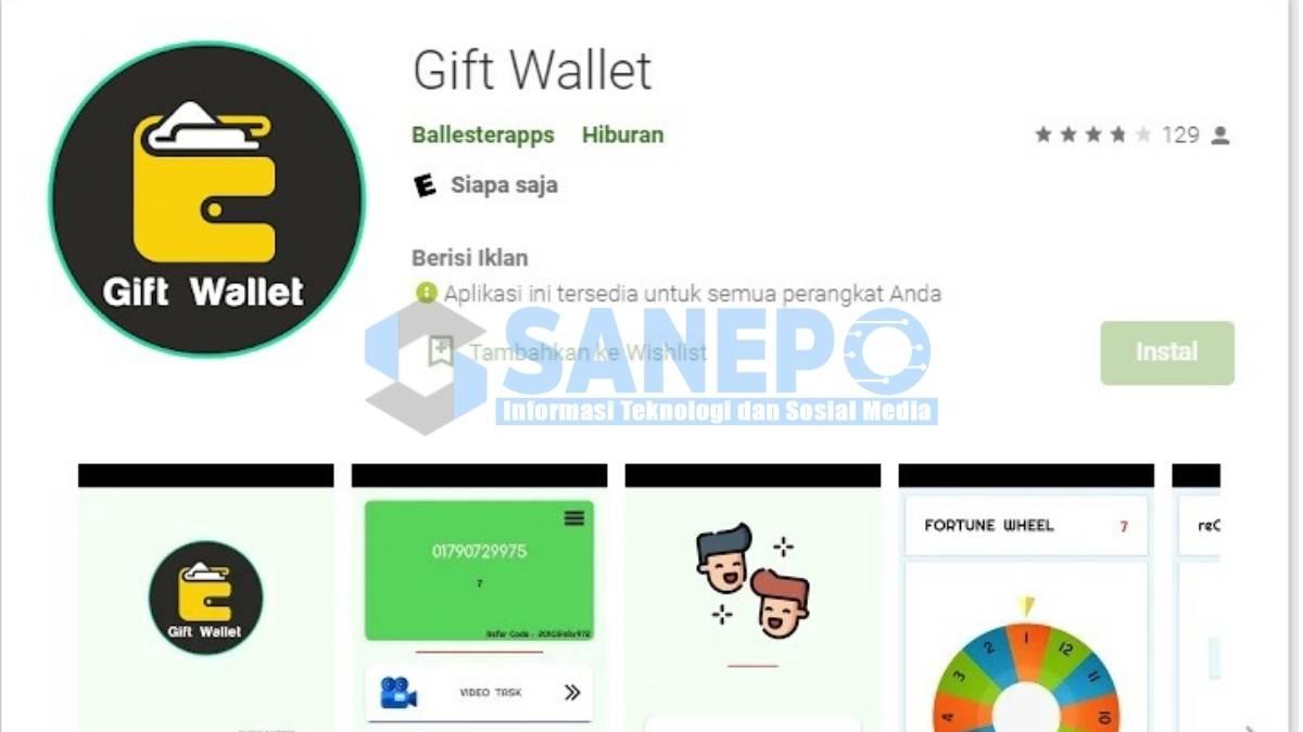 Game Spin Penghasil Uang Langsung ke Rekening Gift Wallet