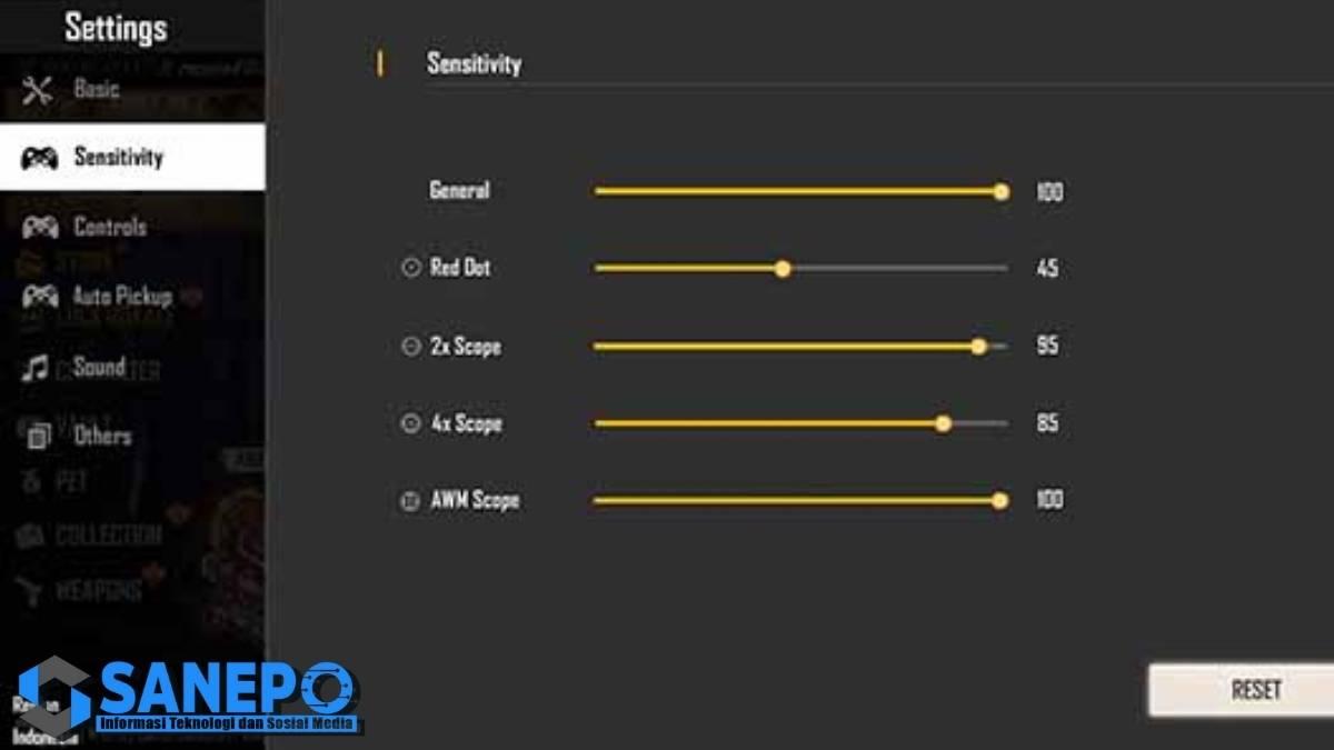 Sensitivitas FF Auto Headshot 2021