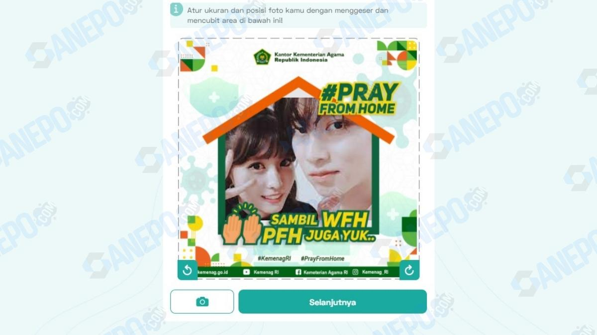 Link Twibbon Pray From Home