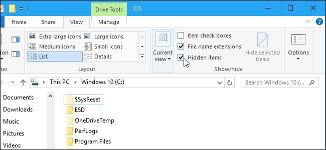 Menemukan file tersembunyi di komputer