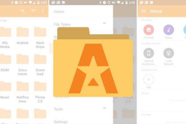 Menemukan file tersembunyi di Android dengan astro file manager
