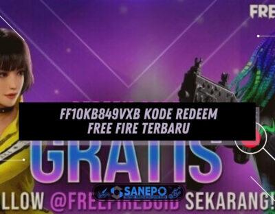 FF10KB849VXB Kode Redeem Free Fire Terbaru, Dapat Mask dan Loot Create Gratis