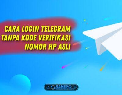 Cara Login Telegram Tanpa Kode Verifikasi Nomor Hp Asli 100% Work