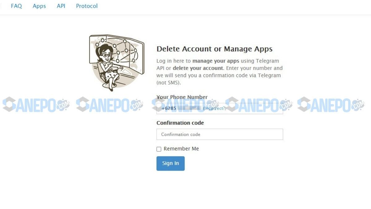 link deak akun telegram sementara