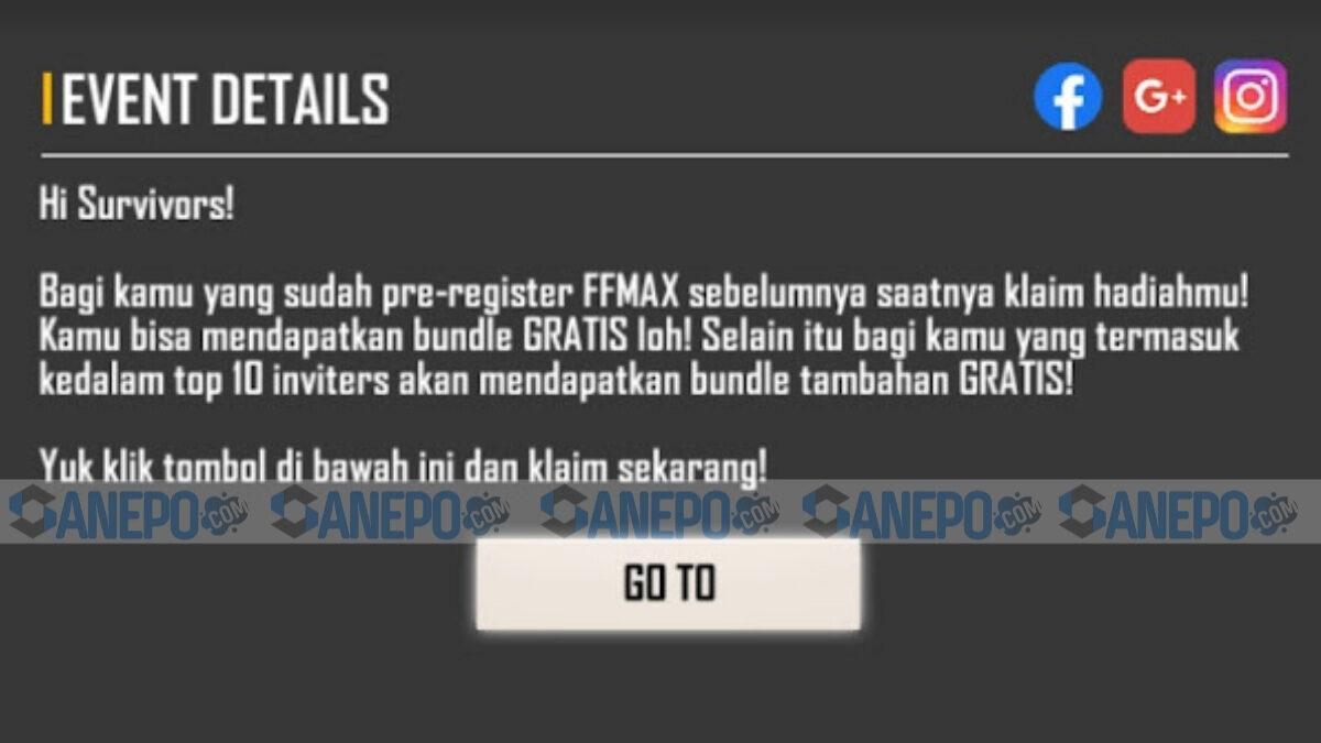 web event ff max pre registrasi 2021